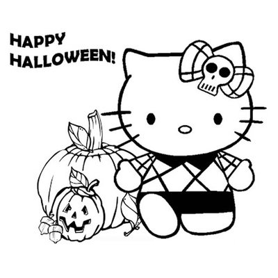 Halloween Disegni Da Colorare Hello Kitty