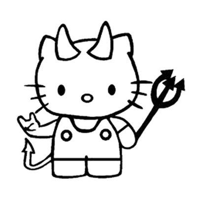 Halloween Disegni Da Colorare Hello Kitty