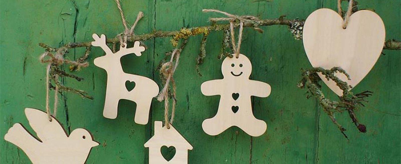 Lavoretti In Legno Per Natale decorazioni in legno per l'albero di natale