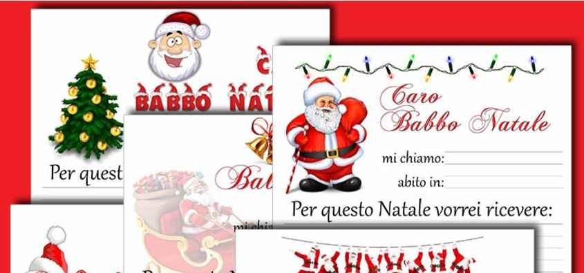 Biglietti Per Regali Di Natale Da Stampare.Lettere Di Babbo Natale Da Stampare