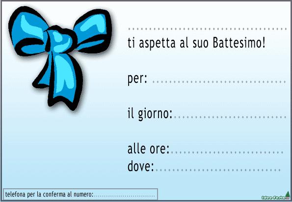 SCARICARE INVITI BATTESIMO GRATIS