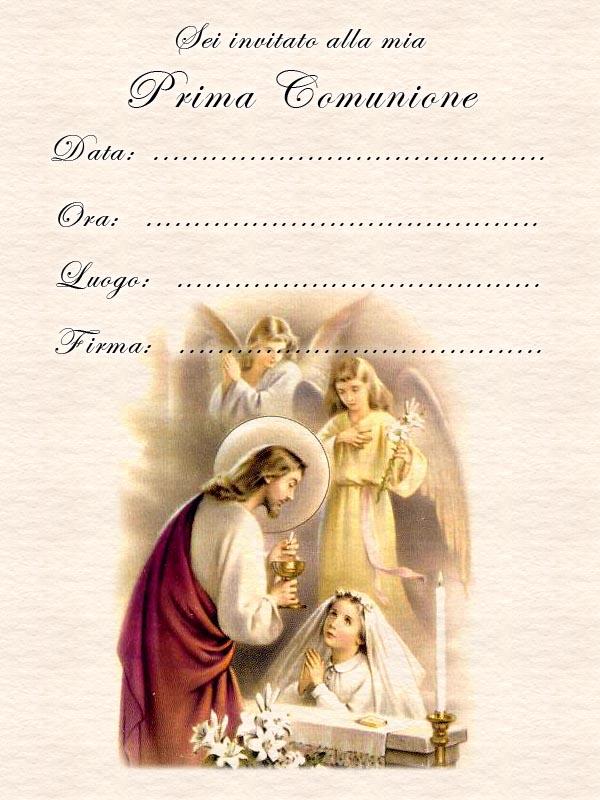 Favoloso Inviti Prima Comunione - Comunione Bambina HV99