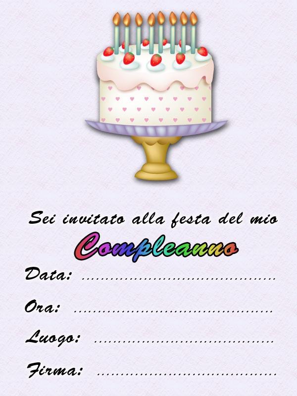 Famoso Biglietti inviti Festa di compleanno Gratis - Compleanno bambini YM06