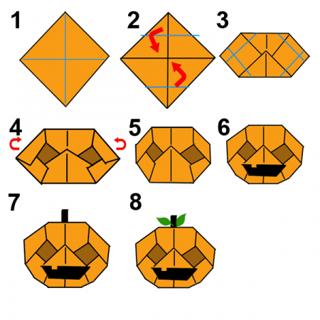 Origami Halloween: Origami Jack o Lantern on money origami diagrams, origami owl diagrams, origami flower diagrams, origami folding diagrams, origami box diagrams, origami rose diagrams, 4th of july origami diagrams, origami cat diagrams, mother's day origami diagrams, origami dragon diagrams, origami bat diagrams, christmas origami diagrams, origami peacock diagrams, mind craft origami diagrams, easy origami diagrams, origami pokemon diagrams, origami alien diagrams, origami dog diagrams, action origami diagrams,
