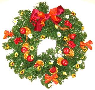 Decorazioni di natale ghirlanda natalizia fai da te for Decorazioni fai da te per feste