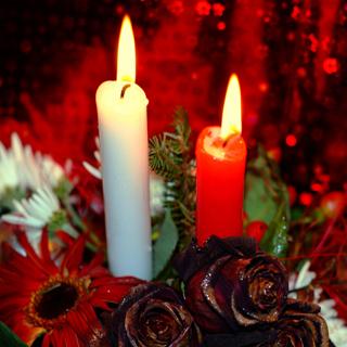 decorazioni di natale le candele