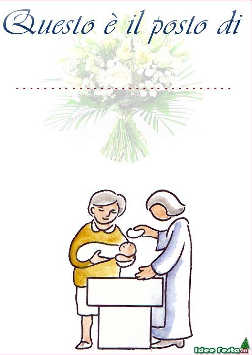 Eccezionale Biglietti Segnaposto per Battesimo QS36