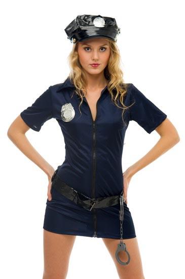 modelli alla moda negozio del Regno Unito chiaro e distintivo Costumi Carnevale fai da te: La Poliziotta