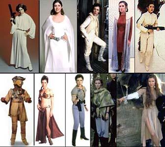costumi principessa Leila Star Wars