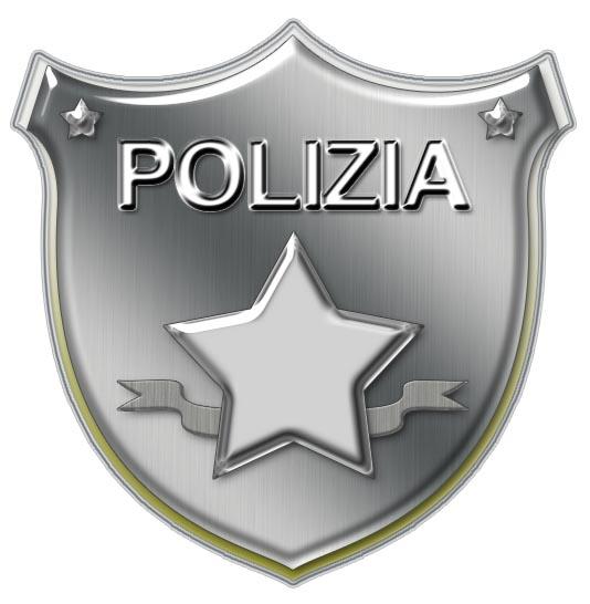 distintivo carnevale polizia