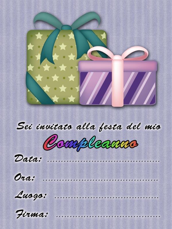 Biglietti Inviti Festa Di Compleanno Gratis Compleanno Bambini