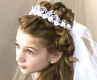 Acconciature eleganti bambina