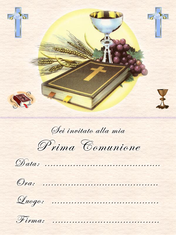 Estremamente Biglietti Invito prima Comunione HF01