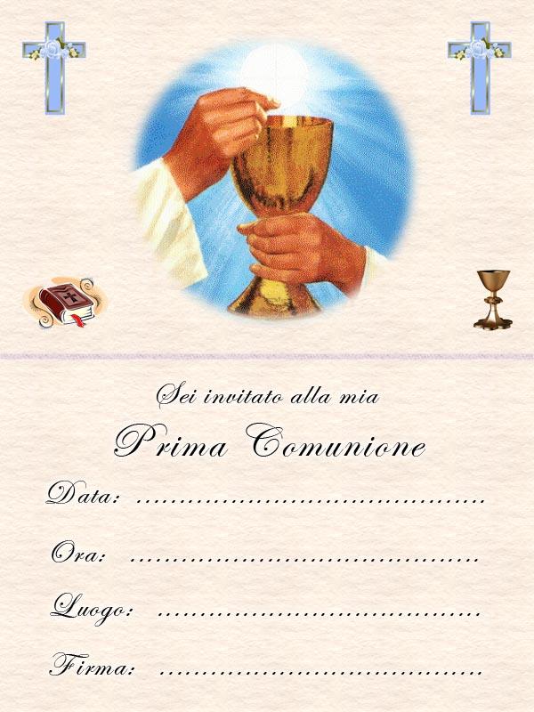 Biglietti Invito Prima Comunione