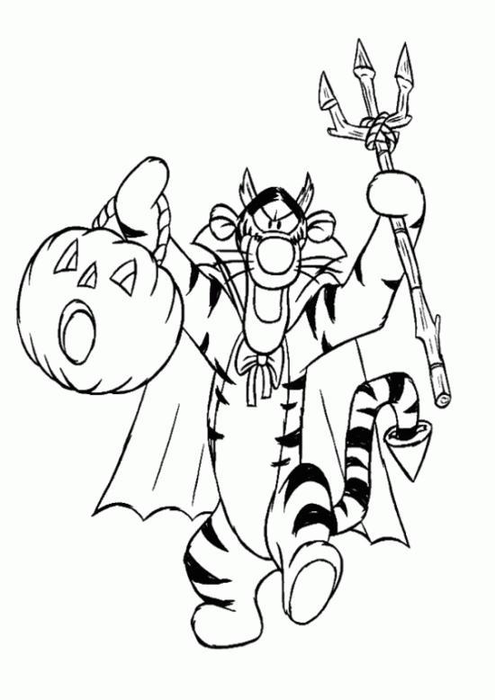 Halloween Disegni Di Winnie Pooh Da Colorare