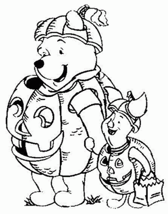 halloween pooh bear coloring pages - photo#5