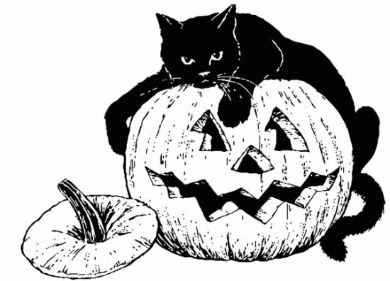 disegni da colorare per halloween zucche