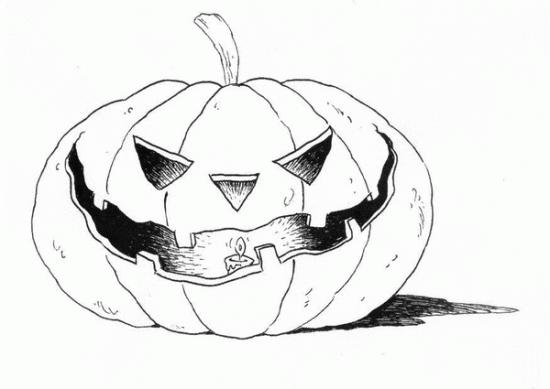 Disegni zucca di halloween da colorare - Disegni di zucche ...