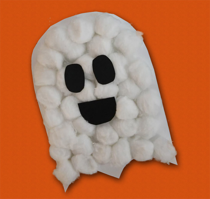 Fantasmini di Halloween in ovatta 506041b88a4d