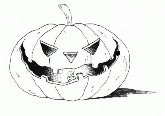 Disegni zucca di halloween da colorare for Disegni di zucche