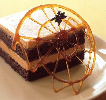 ragnatele di zucchero caramellato per halloween
