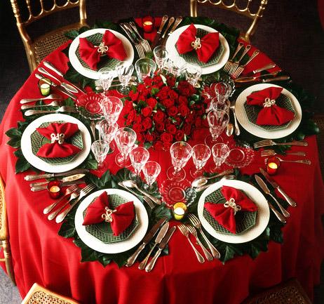 Addobbare la tavola per Natale