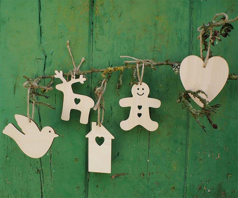 Decorazioni in legno per l 39 albero di natale - Decorazioni natalizie in legno ...