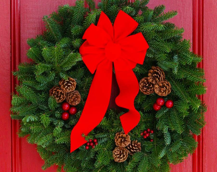 Ghirlande di natale per la porta d ingresso - Ghirlande per porte natalizie ...