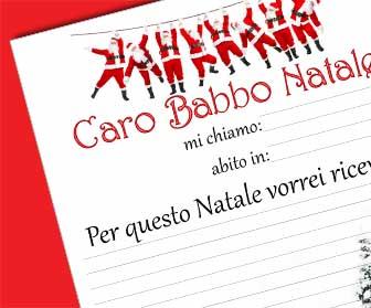 Lettera A Babbo Natale Divertente.Lettere Di Babbo Natale Da Stampare