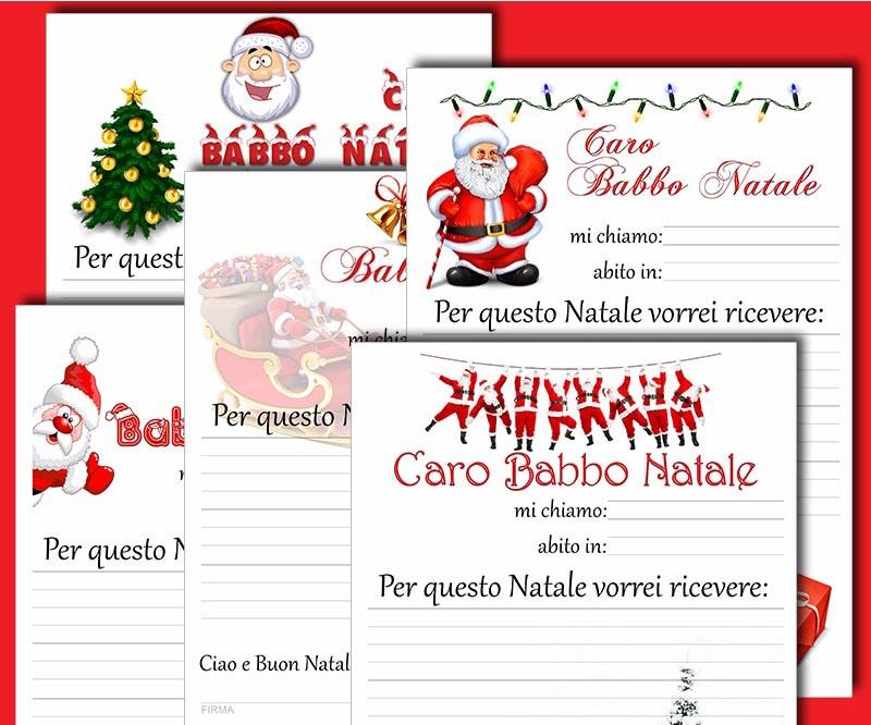 Menu Di Natale Da Stampare E Compilare.Lettere Di Babbo Natale Da Stampare