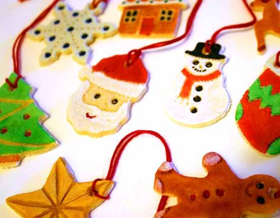 Favorito Decorazioni natalizie in pasta di sale QB13